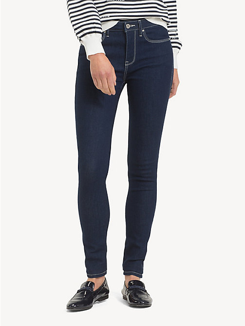 TOMMY HILFIGER Skinny fit jeans met contraststiksel - ALTEA - TOMMY HILFIGER Sustainable Evolution - main image