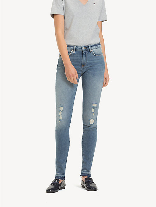 TOMMY HILFIGER Skinny Fit Distressed Ankle Jeans - HILDA - TOMMY HILFIGER Skinny Jeans - main image