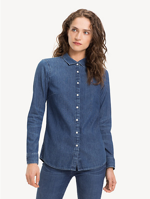 TOMMY HILFIGER Slim Fit Snap Button Denim Shirt - ETTA - TOMMY HILFIGER Shirts - main image