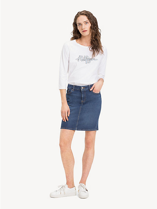 TOMMY HILFIGER Slim Fit Stretch Denim Skirt - RHEA - TOMMY HILFIGER NEW IN - main image