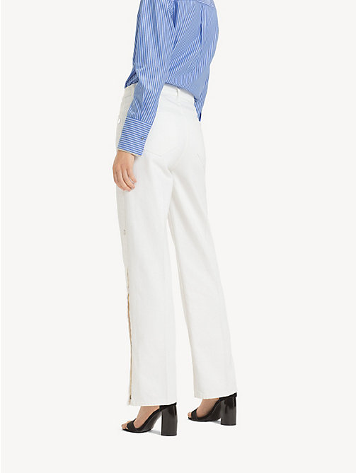 TOMMY HILFIGER Mom Fit Wide Leg Jeans - NEPTUNE - TOMMY HILFIGER Girlfriend Jeans - detail image 1