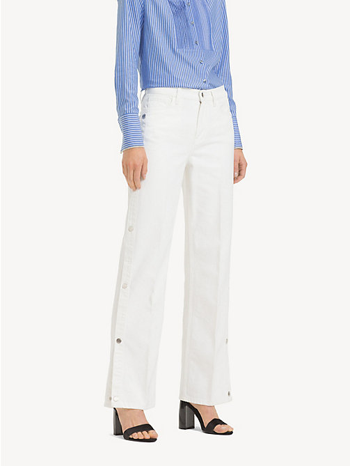 TOMMY HILFIGER Mom Fit Wide Leg Jeans - NEPTUNE - TOMMY HILFIGER Girlfriend Jeans - main image