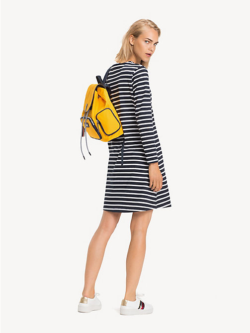 TOMMY HILFIGER Regular Fit Laced Shoulder Dress - BRETON STP / SKY CAPTAIN - TOMMY HILFIGER Dresses & Jumpsuits - detail image 1