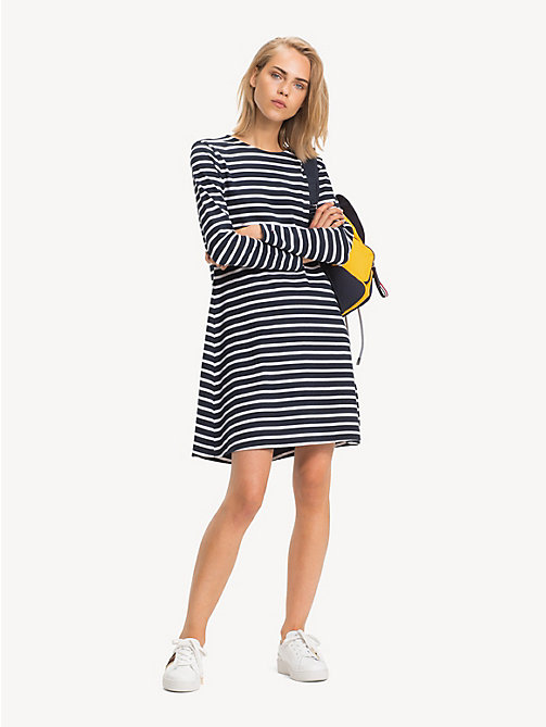 TOMMY HILFIGER Regular Fit Laced Shoulder Dress - BRETON STP / SKY CAPTAIN - TOMMY HILFIGER NEW IN - main image