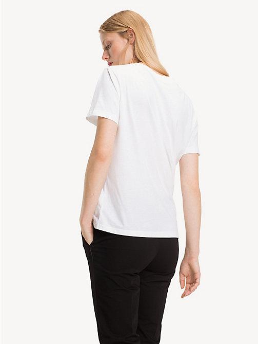 ee22817b63a7d WHITE  TOMMY HILFIGER T-shirt à logo en jersey de coton - CL.WHITE