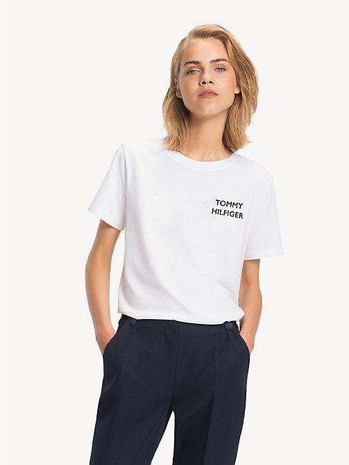 NOUVEAU TOMMY HILFIGER T-shirt à logo en jersey de coton - CL. 4fd763d20cf5
