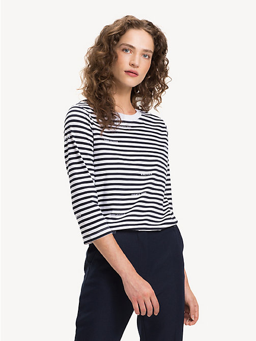 TOMMY HILFIGER Gestreiftes T-Shirt aus Bio-Baumwolle - BRANDED STP / SKY CAPTAIN - TOMMY HILFIGER Sustainable Evolution - main image