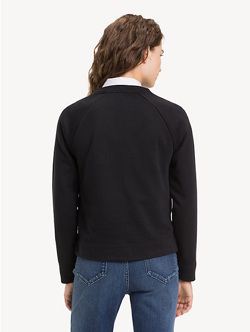 TOMMY HILFIGER Crew Neck Logo Sweatshirt - BLACK BEAUTY - TOMMY HILFIGER Sweatshirts - detail image 1