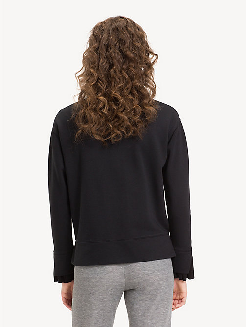 TOMMY HILFIGER Funnel Sleeve Crew Neck Sweatshirt - BLACK BEAUTY - TOMMY HILFIGER NEW IN - detail image 1