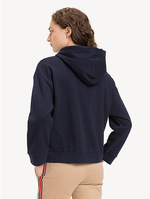 TOMMY HILFIGER Cotton Blend Star Hoody - MIDNIGHT - TOMMY HILFIGER Winter Warmers - detail image 1