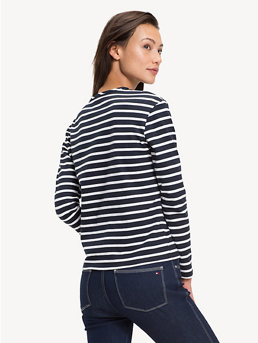 TOMMY HILFIGER All-Over Stripe Long-Sleeve Top - BRETON STP / SKY CAPTAIN - TOMMY HILFIGER Tops - detail image 1