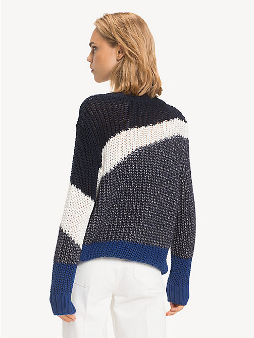 TOMMY HILFIGER Relaxed Fit Colour-Blocked Jumper - SKY CAPTAIN / MULTI - TOMMY HILFIGER NEW IN - detail image 1