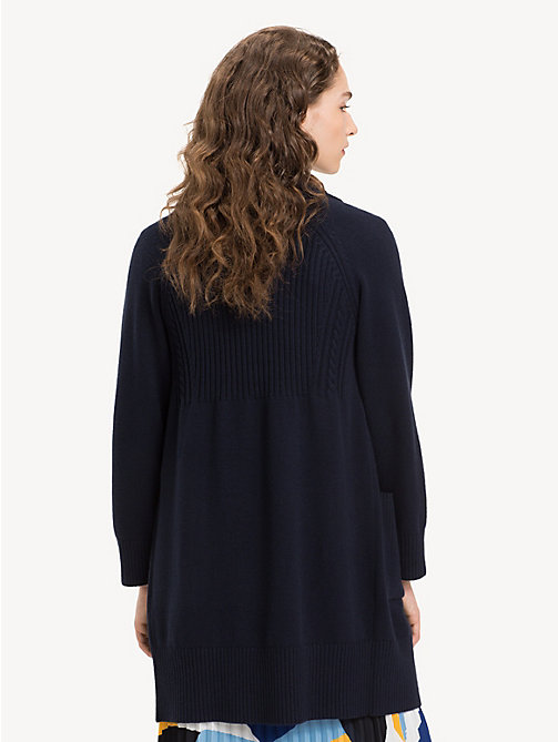 TOMMY HILFIGER Cardigan mit Zopfmuster - MIDNIGHT - TOMMY HILFIGER NEW IN - main image 1