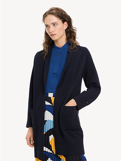 TOMMY HILFIGER Cardigan mit Zopfmuster - MIDNIGHT - TOMMY HILFIGER NEW IN - main image