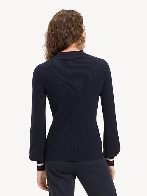 TOMMY HILFIGER Slim Fit Stripe Cashmere Blend Jumper - MIDNIGHT - TOMMY HILFIGER NEW IN - detail image 1