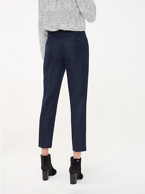 TOMMY HILFIGER Regular Fit Twill Ankle Trousers - MIDNIGHT - TOMMY HILFIGER Sustainable Evolution - detail image 1