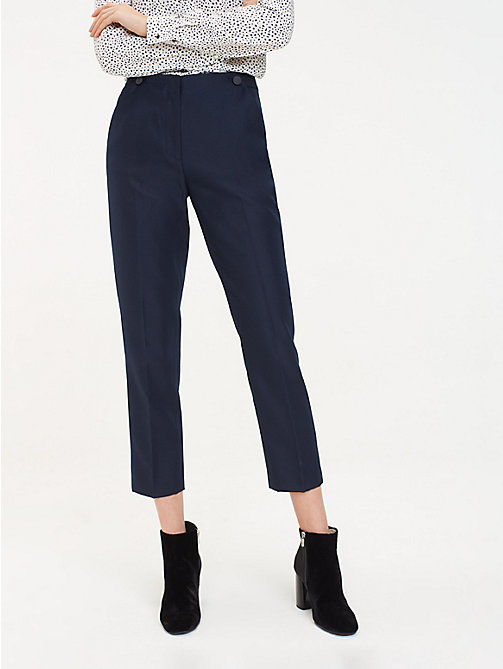 TOMMY HILFIGER Regular Fit Twill Ankle Trousers - MIDNIGHT - TOMMY HILFIGER Sustainable Evolution - main image
