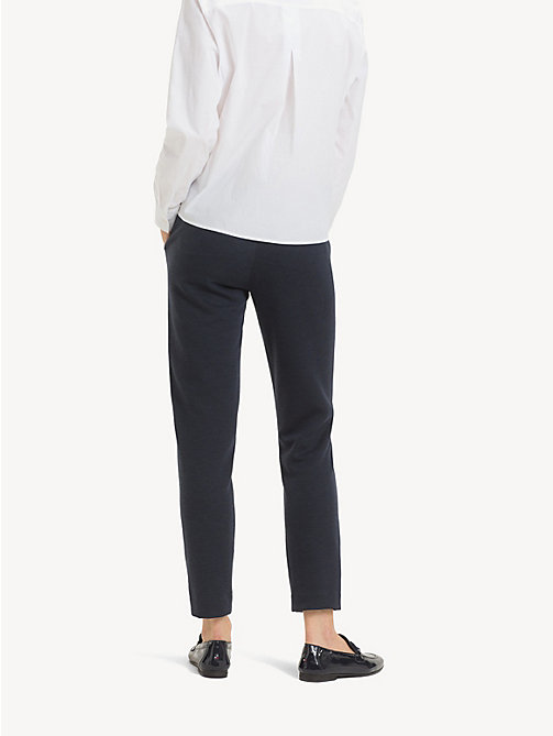 TOMMY HILFIGER Smart Jersey Trousers - MIDNIGHT - TOMMY HILFIGER Cropped Trousers - detail image 1