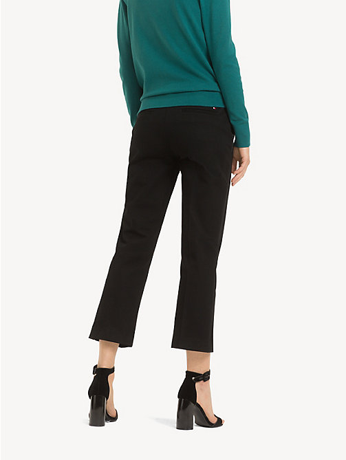 TOMMY HILFIGER Cropped Kick Flare Trousers - BLACK BEAUTY - TOMMY HILFIGER Cropped Trousers - detail image 1
