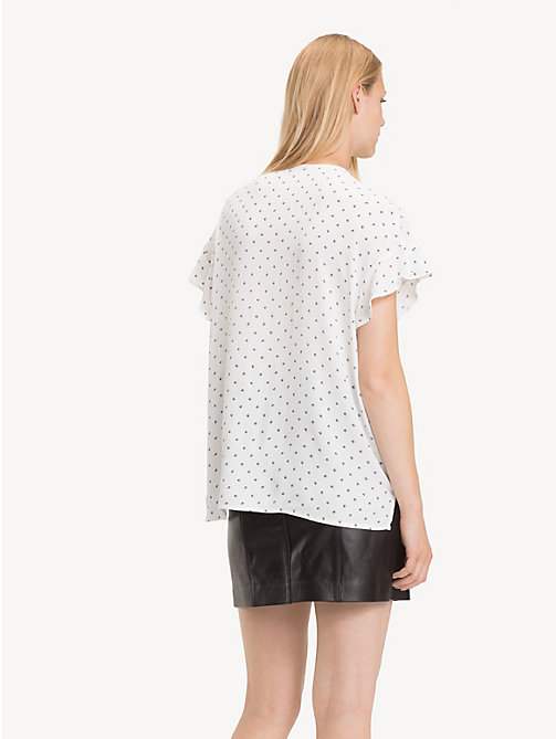 TOMMY HILFIGER Print Blouse - STRIPE MINIMAL / SNOW WHITE - TOMMY HILFIGER Shirts - detail image 1