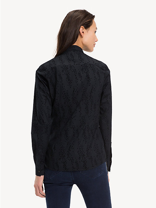 TOMMY HILFIGER Slim fit blouse - SCATTER STAR FLOCK / BLACK BEAUTY - TOMMY HILFIGER Kleding - detail image 1