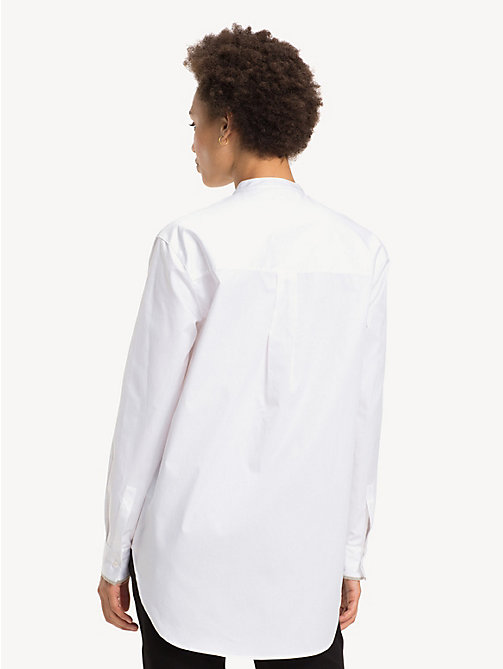 TOMMY HILFIGER Pure Cotton Girlfriend Shirt - CLASSIC WHITE -  Party Looks - detail image 1