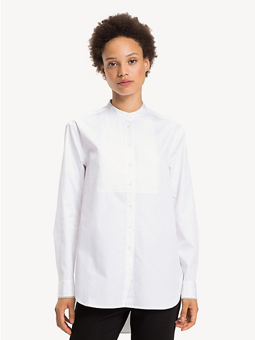 TOMMY HILFIGER Pure Cotton Girlfriend Shirt - CLASSIC WHITE - TOMMY HILFIGER Shirts - main image