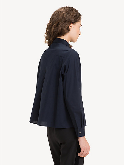 TOMMY HILFIGER Stretch A-Line Shirt - MIDNIGHT - TOMMY HILFIGER Sustainable Evolution - detail image 1