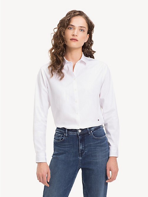 TOMMY HILFIGER Relaxed Fit Shirt - CLASSIC WHITE - TOMMY HILFIGER NEW IN - main image