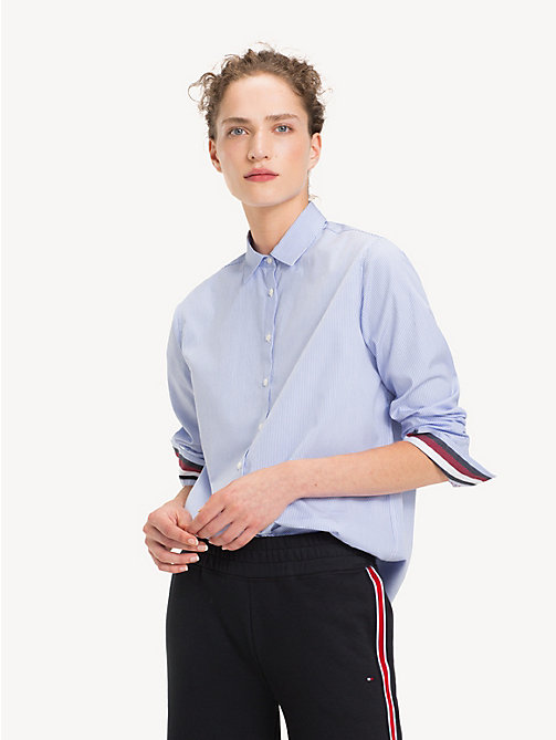 TOMMY HILFIGER Relaxed Fit Shirt - SHIRT BLUE / CLASSIC WHITE STRIPE - TOMMY HILFIGER NEW IN - main image