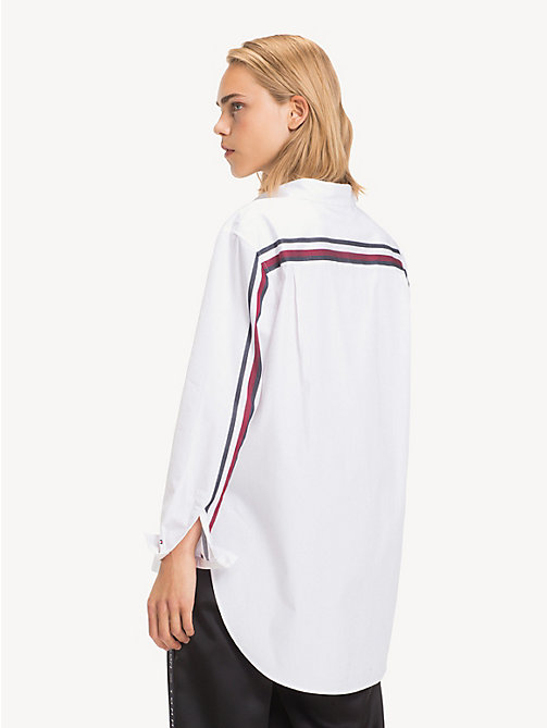 TOMMY HILFIGER Tommy Icons Girlfriend Shirt - CLASSIC WHITE - TOMMY HILFIGER Clothing - detail image 1