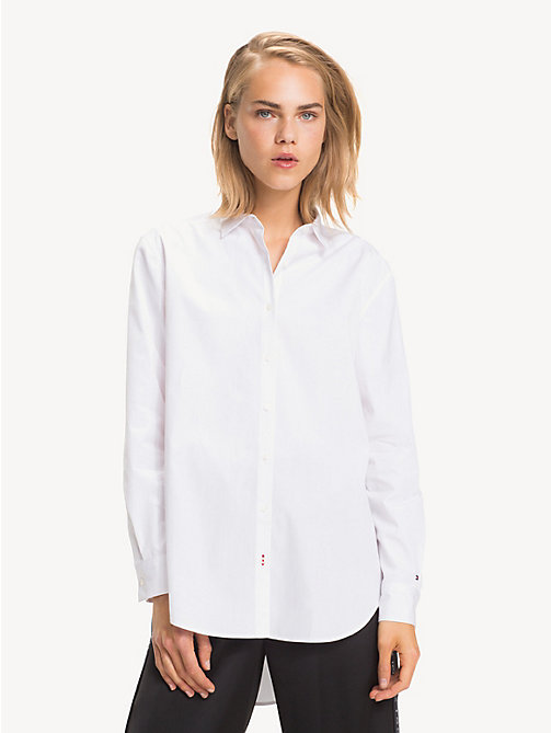 TOMMY HILFIGER Tommy Icons Girlfriend Shirt - CLASSIC WHITE - TOMMY HILFIGER Clothing - main image