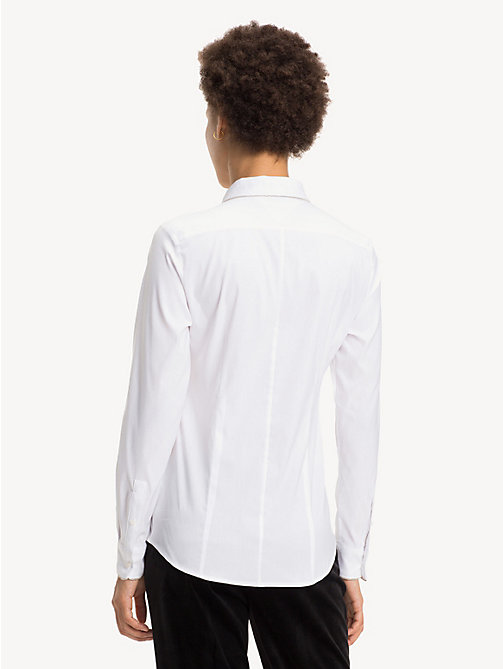 TOMMY HILFIGER Chain Detail Slim Fit Shirt - CLASSIC WHITE - TOMMY HILFIGER Shirts - detail image 1