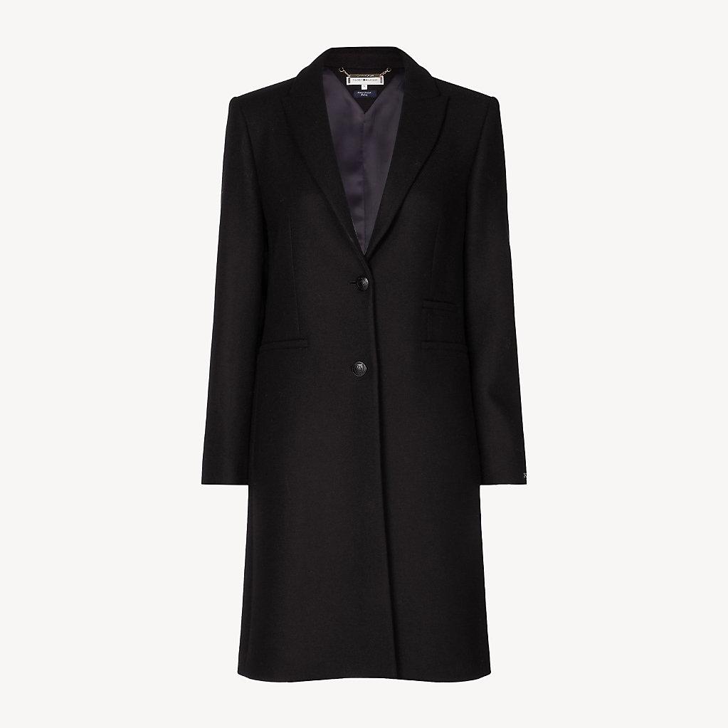 a75f0b8e58523 Manteau Tailored ajusté en laine mélangée   Tommy Hilfiger
