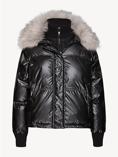 TOMMY HILFIGER Metallic Puffer Bomber Jacket - BLACK BEAUTY - TOMMY HILFIGER Bomber Jackets - detail image 1