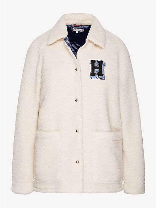 TOMMY HILFIGER Sherpa Teddy Jacket - SNOW WHITE - TOMMY HILFIGER Jackets - detail image 1