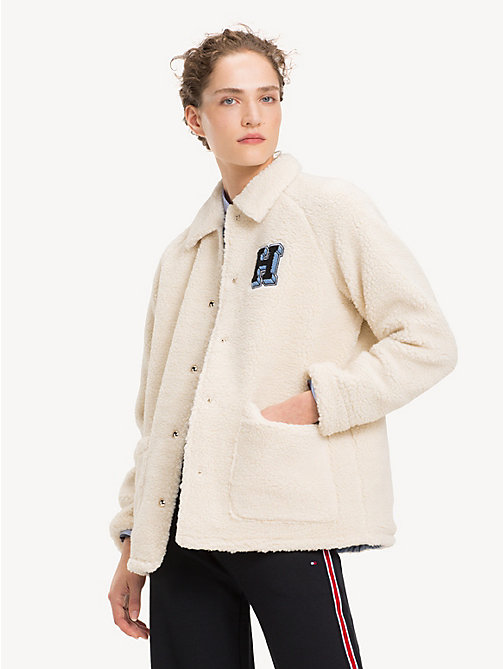 TOMMY HILFIGER Sherpa Teddy Jacket - SNOW WHITE - TOMMY HILFIGER Jackets - main image