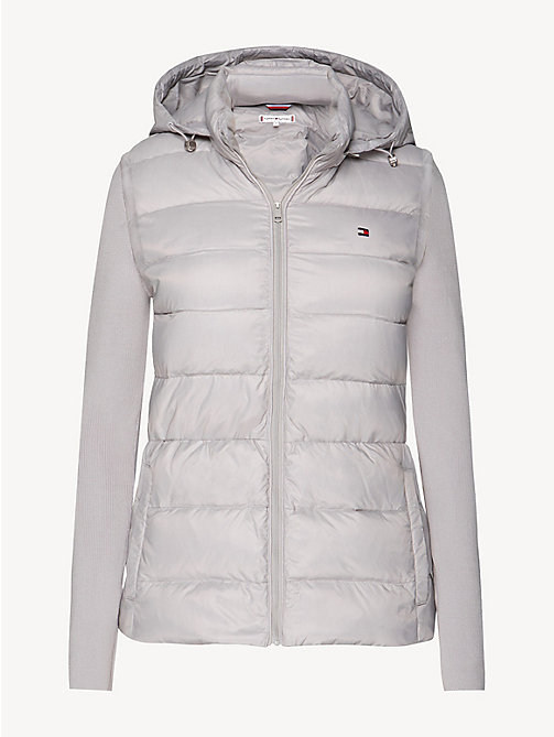 TOMMY HILFIGER Lightweight Quilted Down Jacket - LIGHT GREY - TOMMY HILFIGER Jackets - detail image 1