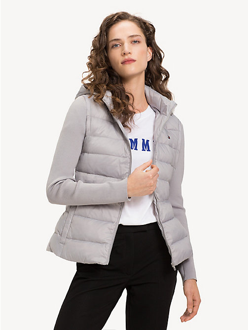TOMMY HILFIGER Lightweight Quilted Down Jacket - LIGHT GREY - TOMMY HILFIGER Jackets - main image