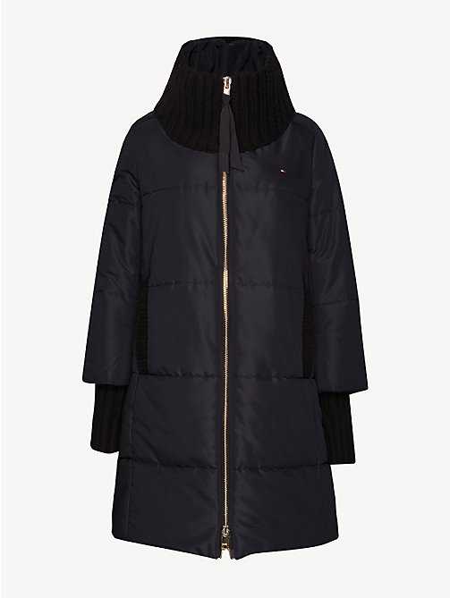 TOMMY HILFIGER Stand-Up Collar Padded Coat - BLACK BEAUTY - TOMMY HILFIGER Coats - detail image 1