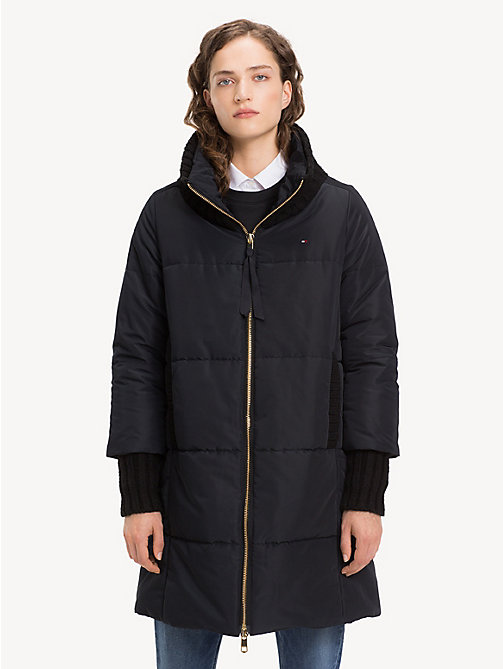 TOMMY HILFIGER Stand-Up Collar Padded Coat - BLACK BEAUTY - TOMMY HILFIGER Coats - main image