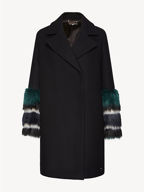 TOMMY HILFIGER Statement Cuff Coat - BLACK BEAUTY - TOMMY HILFIGER Party Looks - detail image 1