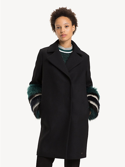 TOMMY HILFIGER Statement Cuff Coat - BLACK BEAUTY - TOMMY HILFIGER Coats - main image