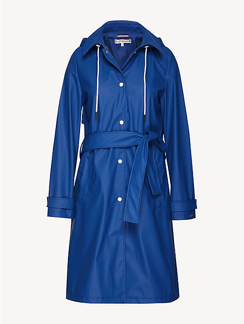TOMMY HILFIGER Hooded Rubber Trench Coat - LIMOGES - TOMMY HILFIGER NEW IN - detail image 1