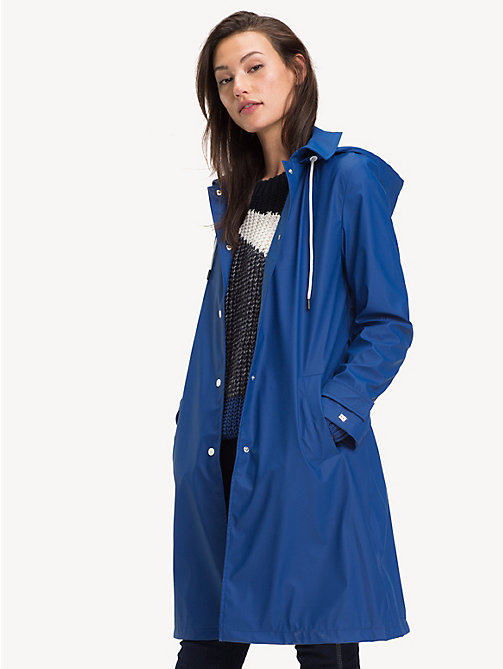 TOMMY HILFIGER Hooded Rubber Trench Coat - LIMOGES - TOMMY HILFIGER NEW IN - main image