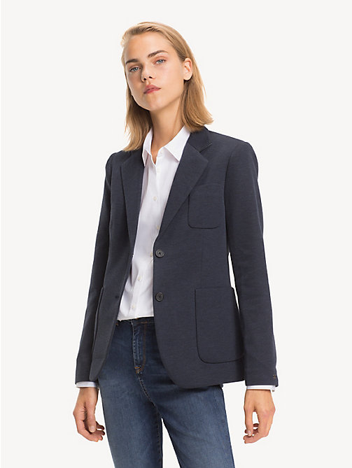 TOMMY HILFIGER Smart Jersey Blazer - MIDNIGHT - TOMMY HILFIGER NEW IN - main image