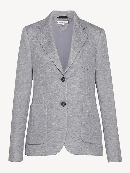 TOMMY HILFIGER Smart Jersey Blazer - MEDIUM GREY HTR - TOMMY HILFIGER NEW IN - detail image 1