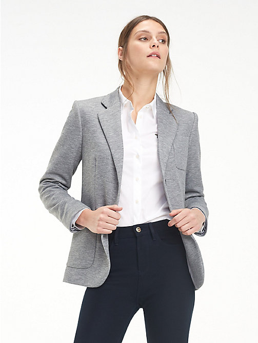 TOMMY HILFIGER Smart Jersey Blazer - MEDIUM GREY HTR - TOMMY HILFIGER NEW IN - main image
