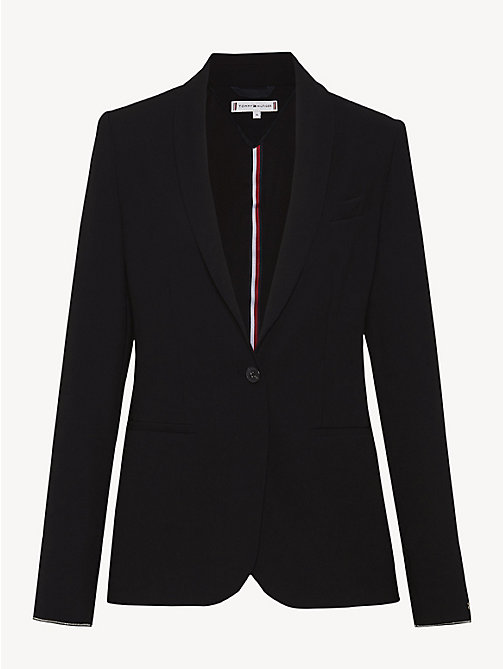 TOMMY HILFIGER Chain Detail Crepe Blazer - BLACK BEAUTY - TOMMY HILFIGER Party Looks - detail image 1