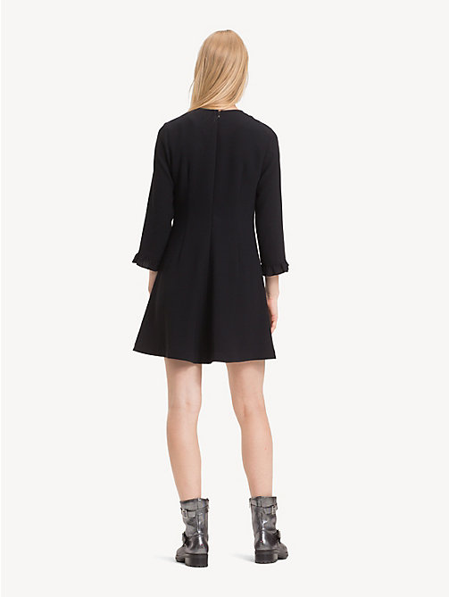 TOMMY HILFIGER Ruffle Detail Crepe Dress - BLACK BEAUTY - TOMMY HILFIGER Dresses & Jumpsuits - detail image 1